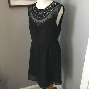 H&M lace embroidered dress size 10 black